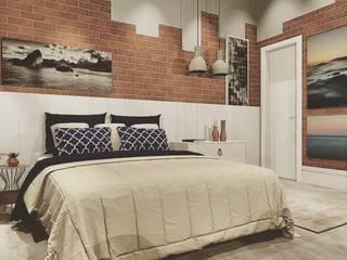 غرفة نوم تنفيذ Lucio Nocito Arquitetura e Design de Interiores