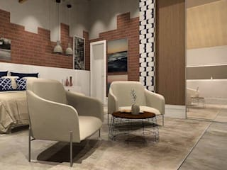 Contemporâneo com um toque industrial:   por Lucio Nocito Arquitetura e Design de Interiores