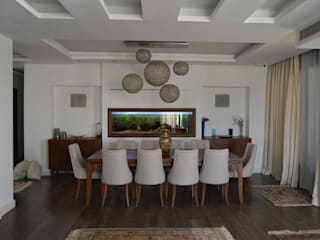 Duplex SE El agizy Architecture and Design Eclectic style dining room