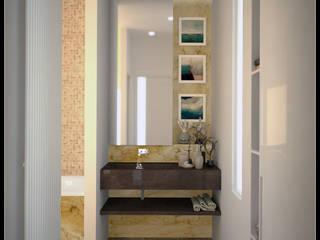 AG Interior Design Modern style bathrooms Amber/Gold