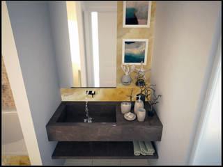 AG Interior Design Modern style bathrooms Tiles Amber/Gold