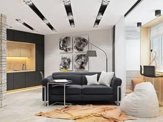 ДизайнМастер Ruang Keluarga Modern White