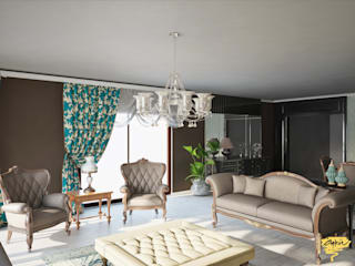 Living room by Öykü İç Mimarlık, Modern