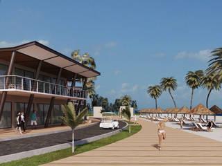 ECO PARQUE PLAYA NORTE: Espacios comerciales de estilo  por ACUBIKA