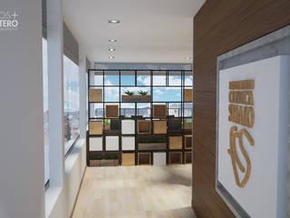 Lounge - Fundación Clinica Shaio Salas modernas de Bustos + Quintero arquitectos Moderno