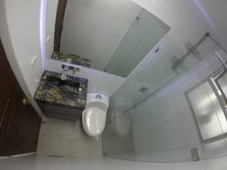 Vista general baño 2 Baños de estilo moderno de MODE ARQUITECTOS SAS Moderno