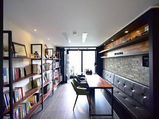Salas de estar modernas por 누보인테리어디자인 Moderno