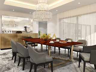 Casa - Cannes: Salas de jantar modernas por Empolgant Idea