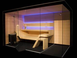 Sauna Modern Line z prysznicem Sauna Line Sp. z o.o. Sauna Drewno Czarny