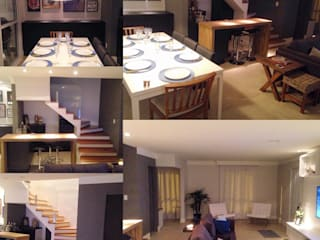 Projeto de interiores da primeira moradia de um casal de jovens. :   por Duducirvidiu Arquitetura