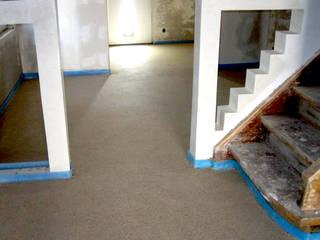 CHINOTHERM Bio-Estrich aus Naturstoffen A. Chini GmbH & CO.KG Fußbodenbau Moderner Flur, Diele & Treppenhaus