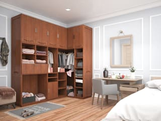 ห้องนอน by Urban Living Designs