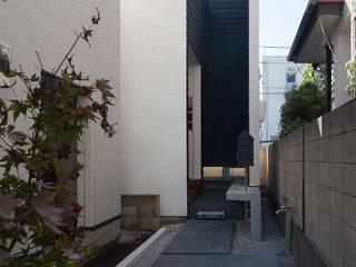 階段が庭と居場所をつなぐ狭小住宅 の acaa モダン