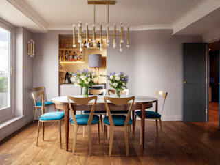 Art Deco Inspired Riverside Flat : Bermondsey 에클레틱 다이닝 룸 by Cassidy Hughes Interior Design 에클레틱 (Eclectic)