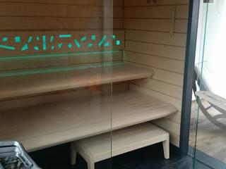 Sauna Best Line z prysznicem Nowoczesne spa od Sauna Line Sp. z o.o. Nowoczesny