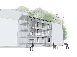 Adaptacja poddasza kamienicy przy ul. Narbutta w Warszawie od HalabisArchitektura