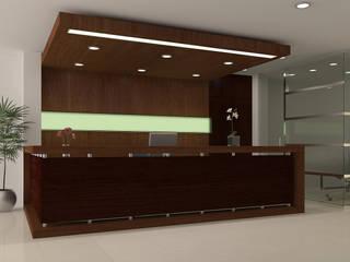 REMODELACIÓN OFICINAS SC-014: Estudios y oficinas de estilo  por ACUBIKA