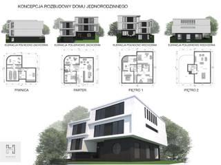 Rozbudowa domu jednorodzinnego na Warszawskim Bemowie od HalabisArchitektura