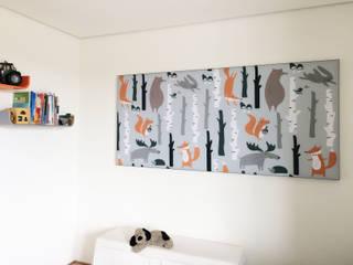 Schalldämmung für Privathaus mit Akustikbildern Moderne Kinderzimmer von freiraum Akustik Modern