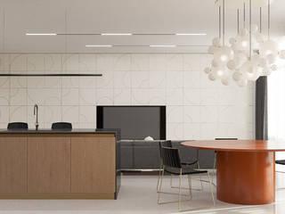 Квартира в стиле постмодернизм: Гостиная в . Автор – Yakusha Design
