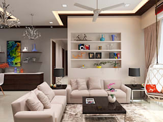 Living room by The inside stories - by Minal, Modern