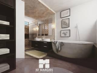 Baños de estilo minimalista de 3D MarqJes arquitecto Minimalista
