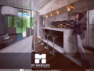 Cocinas de estilo minimalista de 3D MarqJes arquitecto Minimalista