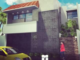 Residencia Per Nvl: Casas unifamiliares de estilo  por 3D MarqJes arquitecto