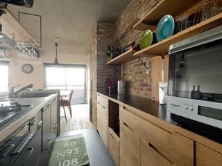NYブルックリンスタイルリノベーション インダストリアルデザインの キッチン の 東京・横浜 ハコプラスリノベーション インダストリアル