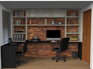 Study/office by 3D Arquitetura, Rustic