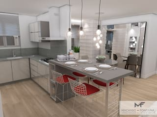 AP 704: Cozinhas  por Machado Fontana | Arquitetura e Interiores