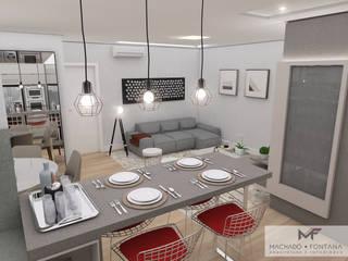 AP 704: Salas de jantar  por Machado Fontana | Arquitetura e Interiores