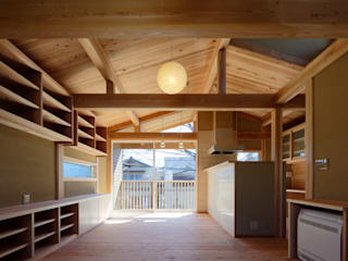 客廳 by 高野三上アーキテクツ一級建築設計事務所  TM Architects, 現代風