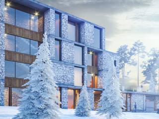 Проект горнолыжного отеля: Гостиницы в . Автор – Архитектурная студия Чадо