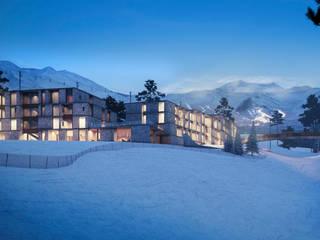 Проект горнолыжной гостиницы: Гостиницы в . Автор – Архитектурная студия Чадо
