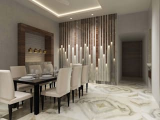 Contemporary design:  Dining room by Bhavana Jain Designs