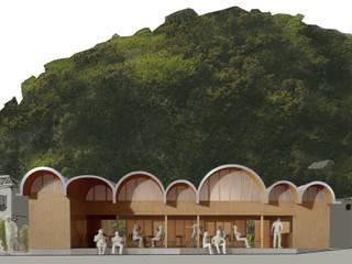 交流施設O: 平野崇建築設計事務所 TAKASHI HIRANO ARCHITECTSが手掛けたレストランです。