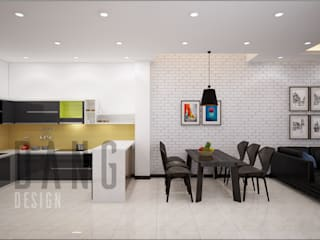 Asian style dining room by DCOR Asian