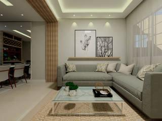 Pavimento térreo residencial Salas de estar modernas por Juliana Lobo Arquitetura & Interiores Moderno