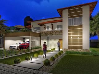 Residência Castanheira: Casas familiares  por Marco Lima Arquitetura + Design,Moderno