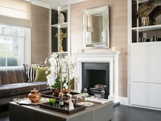 South Kensington Residential Refurbishment SWM Interiors & Sourcing Ltd 现代客厅設計點子、靈感 & 圖片 木頭 White