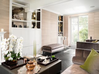 South Kensington Residential Refurbishment SWM Interiors & Sourcing Ltd Salones de estilo moderno Madera Blanco