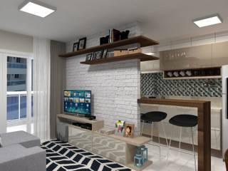 Reforma de Apartamento:   por Camila Machado Arquitetura e Interiores,Moderno