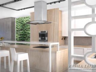 Dom we Wrocławiu: styl , w kategorii Kuchnia zaprojektowany przez Marika Kafar Autorska Pracownia Projektowa