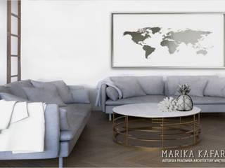 Artystyczny Żoliborz: styl , w kategorii Salon zaprojektowany przez Marika Kafar Autorska Pracownia Projektowa