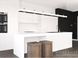 Artystyczny Żoliborz: styl , w kategorii Kuchnia zaprojektowany przez Marika Kafar Autorska Pracownia Projektowa