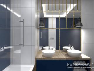 Apartament Wilanów: styl , w kategorii Łazienka zaprojektowany przez Marika Kafar Autorska Pracownia Projektowa