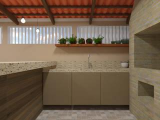 Área de Convívio : Terraços  por Camila Machado Arquitetura e Interiores,Rústico
