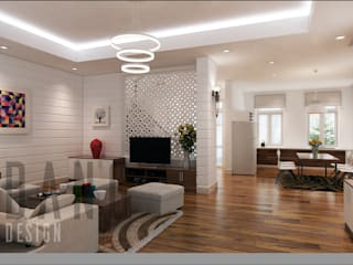 Asian style living room by DCOR Asian