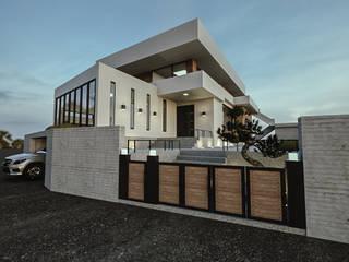 청주시 수동 ......노후된 주택 리모델링 디자인 모던스타일 주택 by 디자인 이업 모던